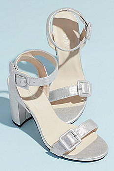 Block Heel Sandals with Oversized Buckles CALISTA