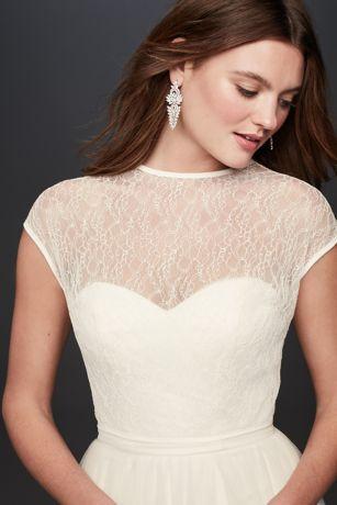 Lace Blouson Wedding Dress Topper