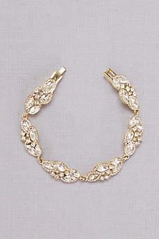 Faceted Crystal Leaves Bracelet