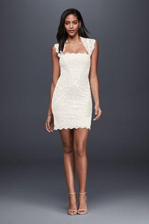 Short Sheath Wedding Dress - Nicole Miller