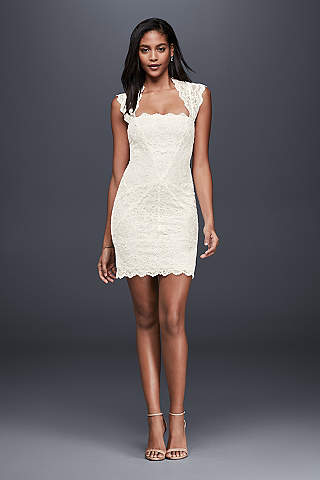 Short & Tea Length Wedding Dresses | David\'s Bridal
