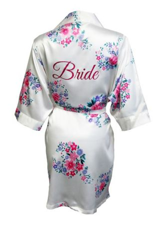 Floral Robe with Glitter Bride