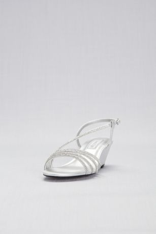 Touch Ups Grey;Ivory (Low Shimmer Wedges with Crystal Straps)