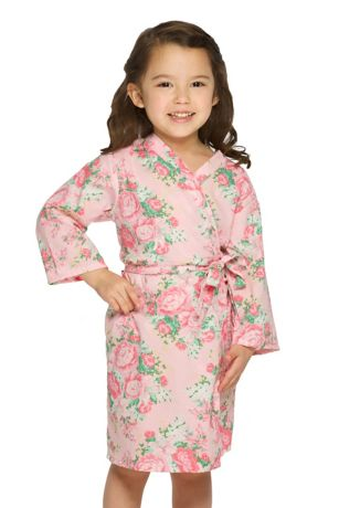 Flower Girl Cotton Floral Robe