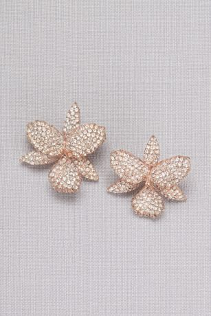 Pave Orchid Earrings