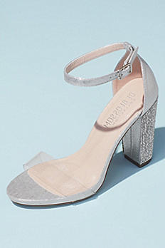 Metallic Platform Sandals with Crystal Block Heel CHELSEA-25