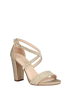 Block-Heel Sandals with Criss-cross CHELSEA-37