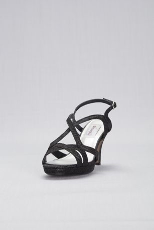 Dyeables Black;Grey;Ivory (Cross-Strap Mid-Heel Platform Pumps)