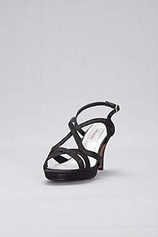 Dyeables Black (Cross-Strap Mid-Heel Platform Pumps)