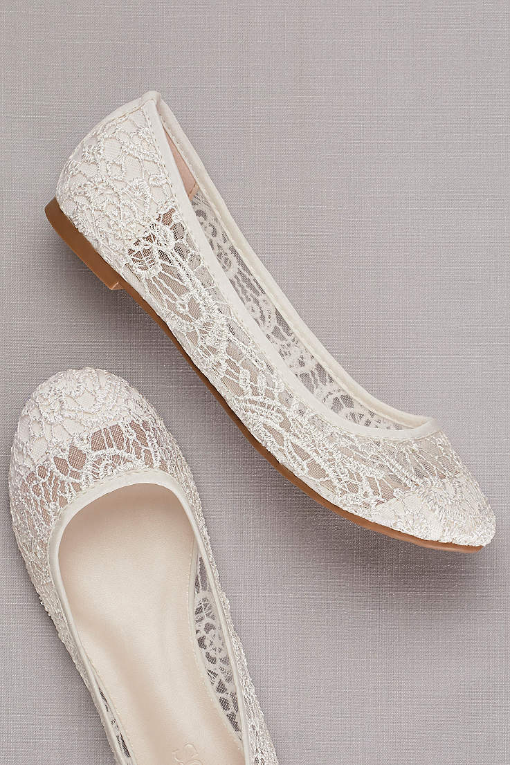 Flat Bridal Shoes And Sneakers David S Bridal