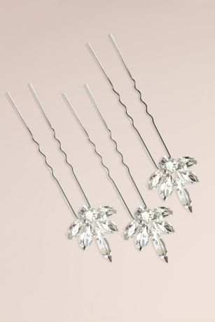 Dainty Swarovski Crystal Cluster Hairpin Set
