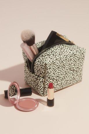 Animal Print Zippered Cosmetics Bag