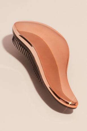 Curved Metallic Detangling Hair Brush
