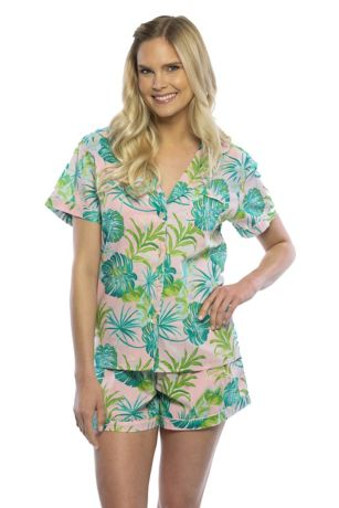 Tropical-Print Tropical Pajama Set
