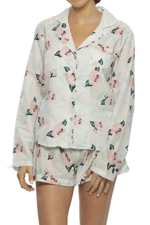 Cotton Floral Long Sleeve PJ Set