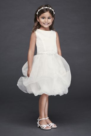 Organza Bubble Skirt Flower Girl Dress