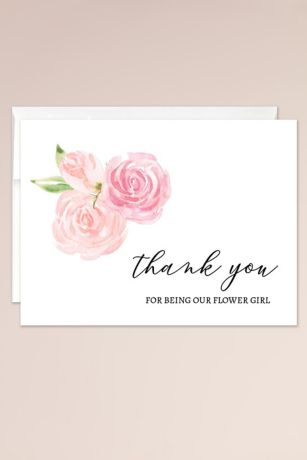 Thank You for Being Our Flower Girl Blank Card