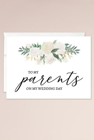 To My Parents on My Wedding Day Blank Card