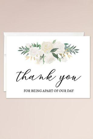 Wedding Day Thank You Blank Card