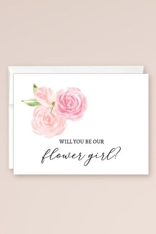 Will You Be Our Flower Girl Blank Card