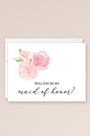 Will You Be My Maid of Honor Blank Card