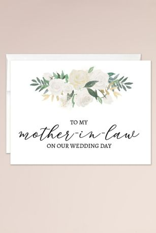 To My Mother in Law on My Wedding Day Blank Card