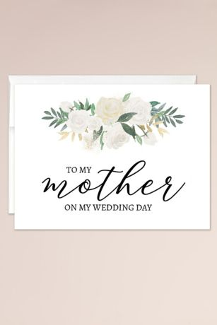 To My Mother on My Wedding Day Blank Card