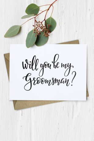 Will You Be My Groomsman Wedding Card