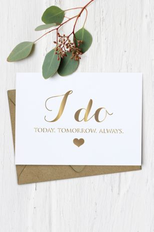I Do Wedding Card
