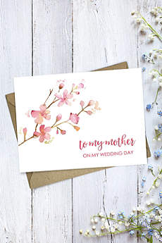 Floral Mother Wedding Day Card