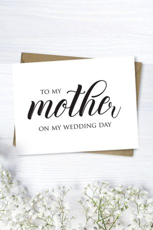 Mother Wedding Day Script Card
