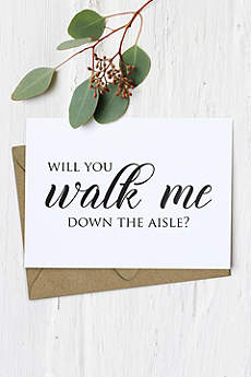 Will You Walk Me Down the Aisle Card