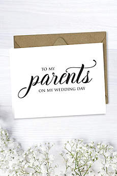 To My Parents Wedding Card