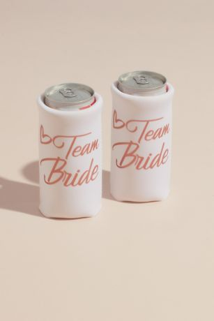 Team Bride Neoprene Slim Can Cooler Set