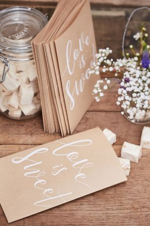 Love Is Sweet Kraft Paper Treat Bags