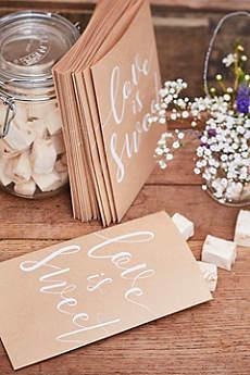 Love Is Sweet Kraft Paper Treat Bags