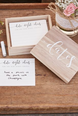 Wooden Date Box