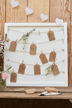 Pegs and String Frame Guestbook