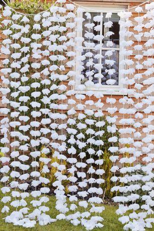 White Floral Backdrop