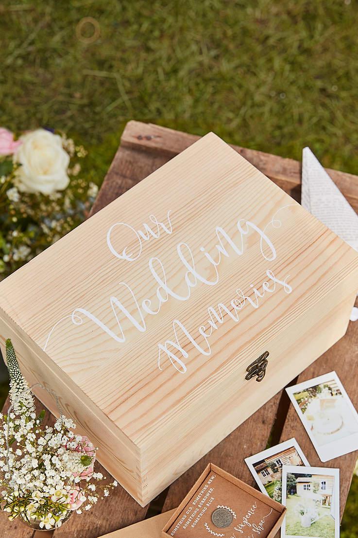 wedding memories wooden box