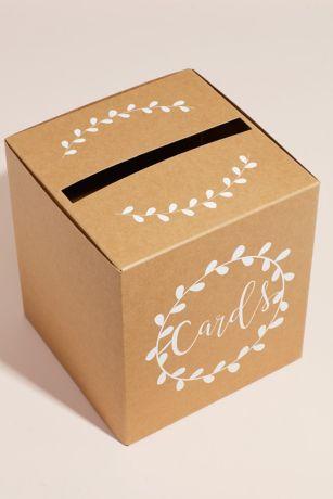 Pop-Up Script Wedding Card Box