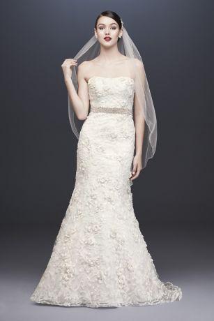 Long Mermaid/ Trumpet Wedding Dress - Oleg Cassini
