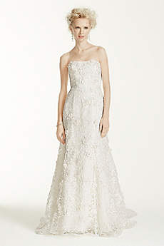 Long Mermaid/ Trumpet Country Wedding Dress - Oleg Cassini