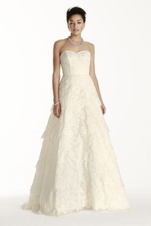 As-Is Strapless Sweetheart Beaded Lace Dress