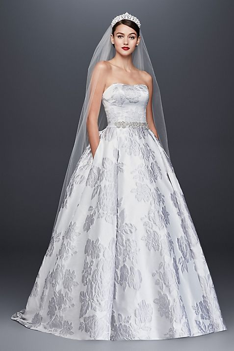 Floral Brocade Ball Gown Wedding Dress | David\'s Bridal