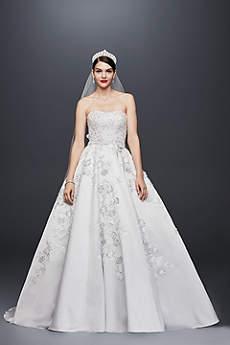 Long Ballgown Glamorous Wedding Dress - Oleg Cassini