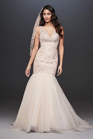 Long Mermaid/ Trumpet Wedding Dress petite