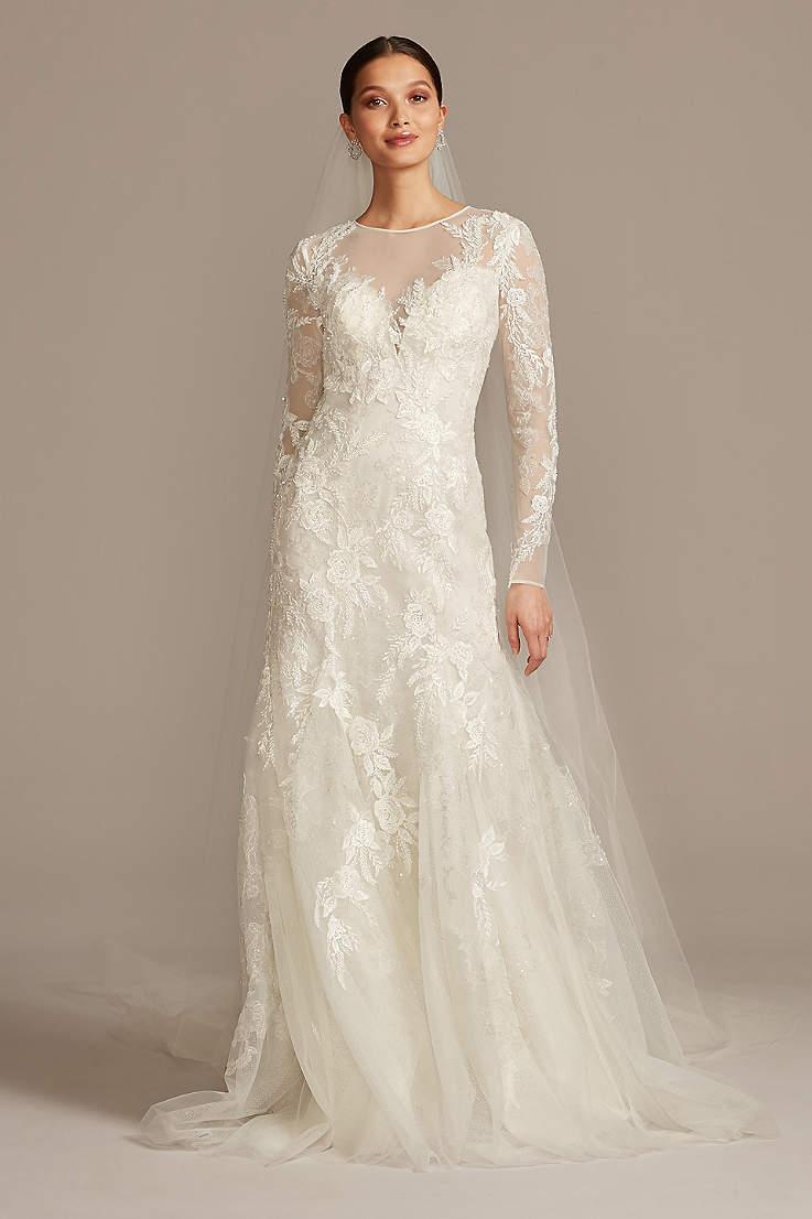 Lace Mermaid Fishtail Wedding Dresses David S Bridal