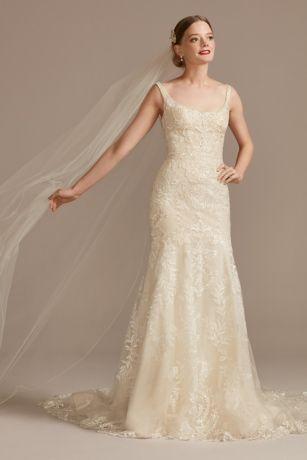 Long Mermaid / Trumpet Wedding Dress - Oleg Cassini