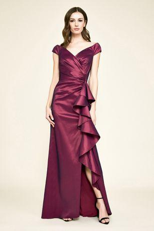 Long Cap Sleeves Dress - Tadashi Shoji